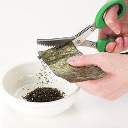 調理用はさみ もみ海苔ができます!